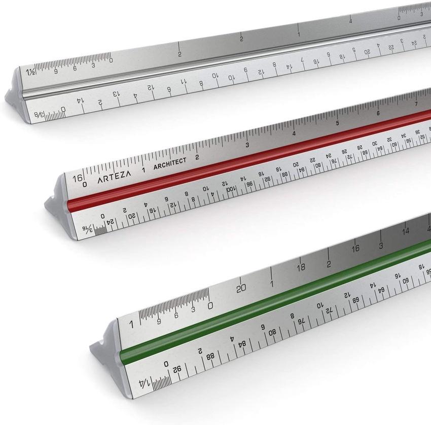 Triangular Architect Scale Ruler 12 Arteza
