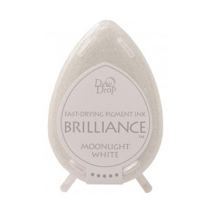 Tsukineko Brilliance Dew Drops: Moonlight White