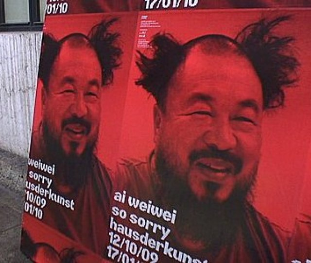 Ai Weiwei So Sorry Exhibition Poster