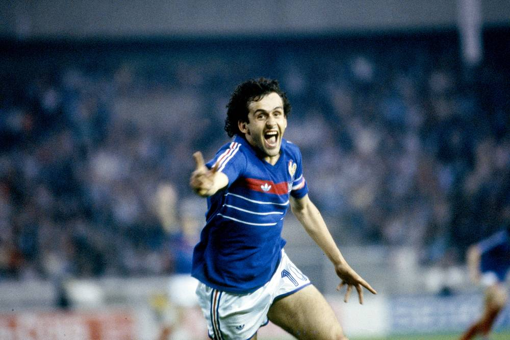 Michel Platini - European Championship of Nations 1984 - Photographic print for sale