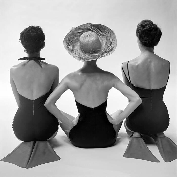 photo noir et blanc de mode vintage