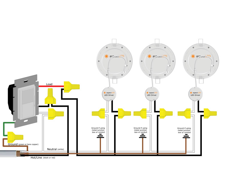 recessed lights in parallel wiring