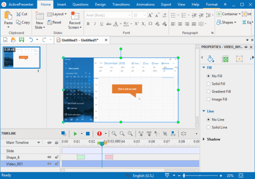 ActivePresenter is a perfect screen recording software for Windows 10.