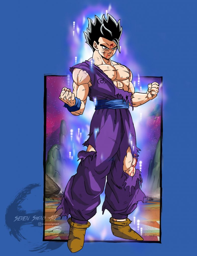 Illustration-of-Dragon-Ball-gives-the-power-of-Ultra-Instinct-to-Gohan-1