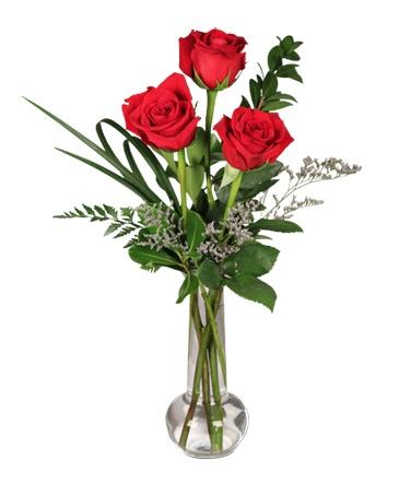 Red Rose Bud Vase Flower Design In Hardwick VT THE