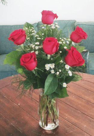 Rosey Romance Red Rose Bouquet in Bluffton  SC   BERKELEY FLOWERS     Rosey Romance Red Rose Bouquet