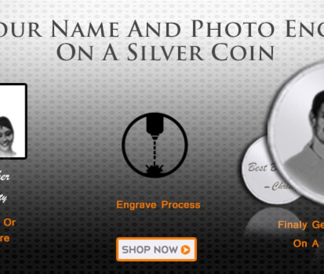 Photo Engraved Silver Coins Online India Augrav