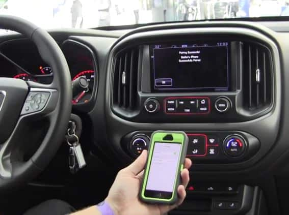 Bluetooth-connected car