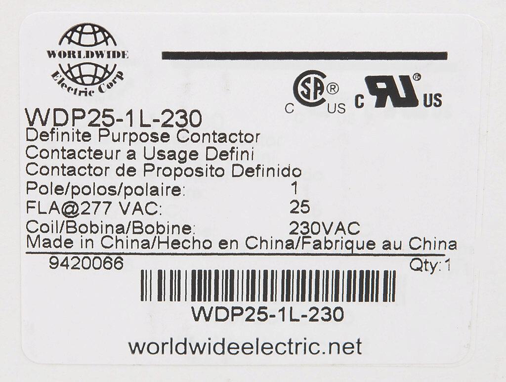 Wdp25 1l 230