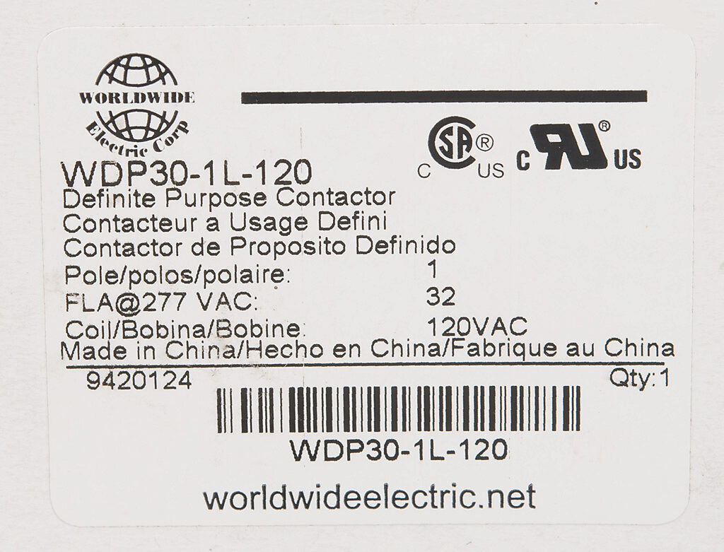 Definite Purpose Contactor 32a 120 Vac 50 60 Hz Coil