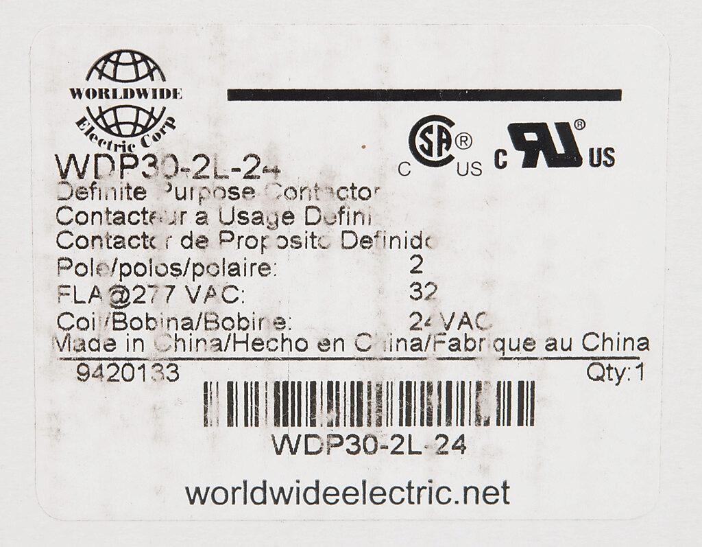 Definite Purpose Contactor 32a 24 Vac 50 60 Hz Coil