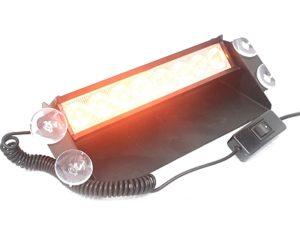 nx led amber orange dashmount emergency strobe light