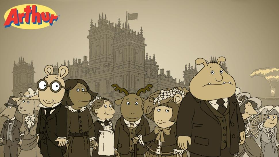 new 39 arthur 39 episode will travel to 39 downton abbey 39 animation
