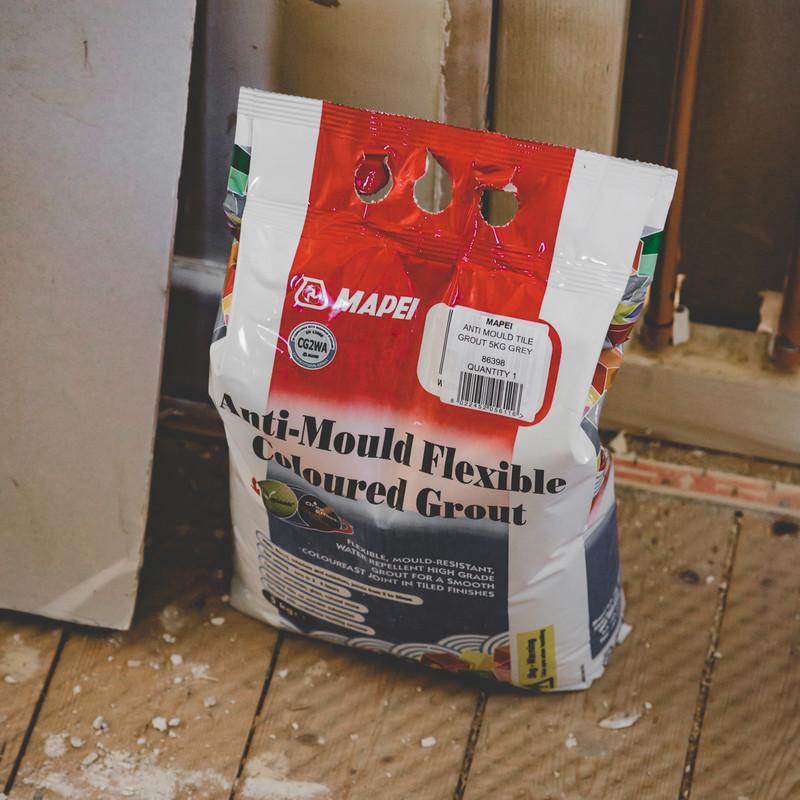 mapei anti mould tile grout 5kg grey