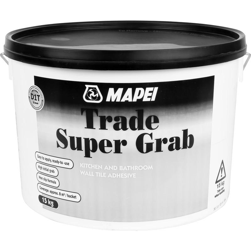 mapei trade super grab tile adhesive 15kg off white