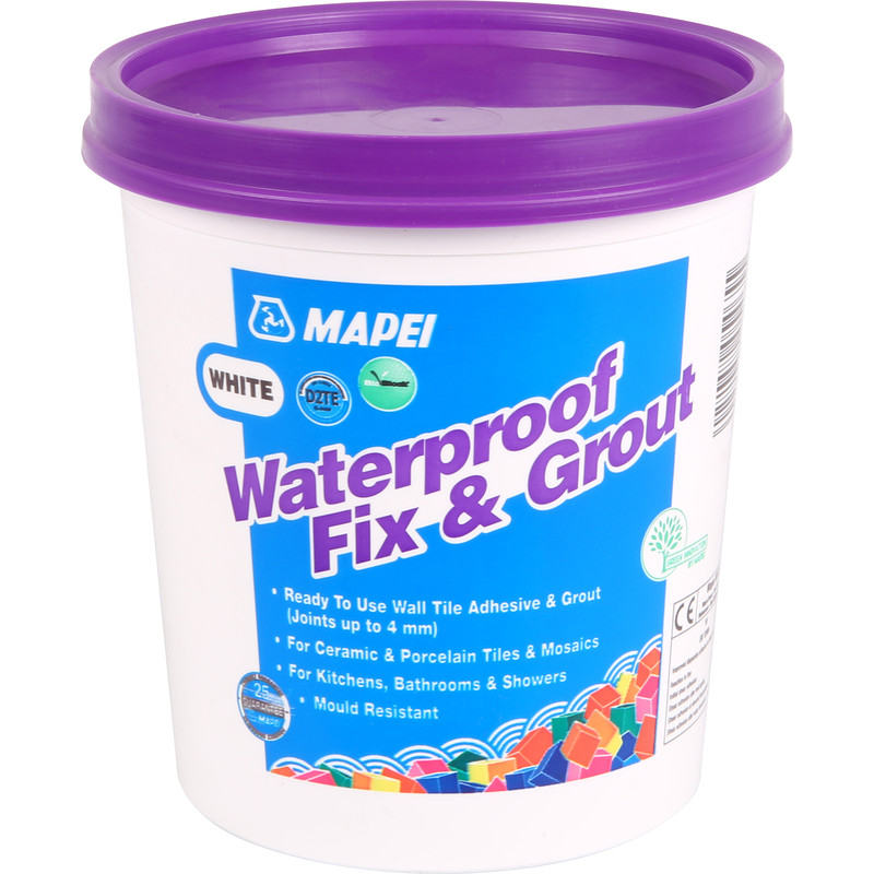 mapei waterproof fix grout tile adhesive 1 5kg white