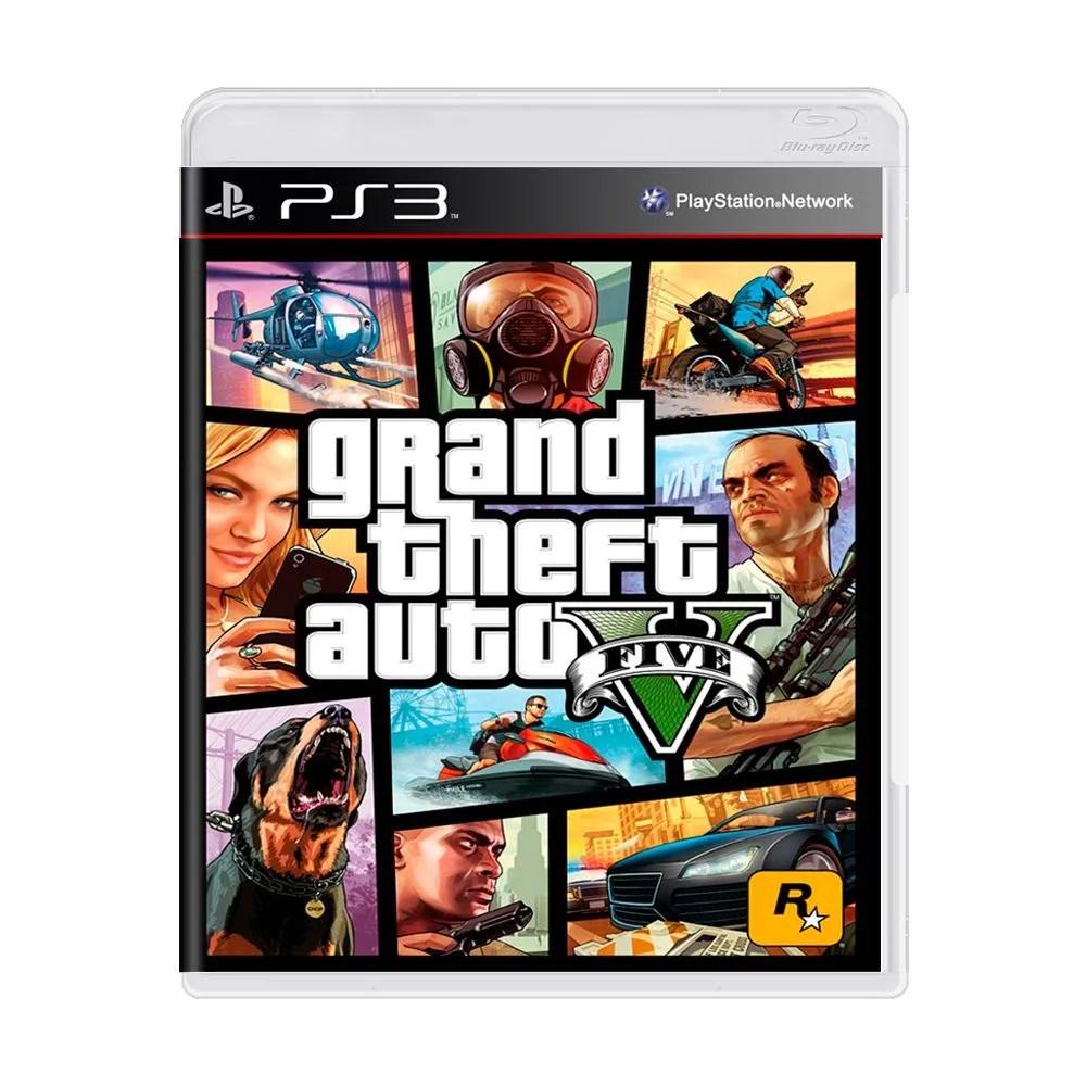 Jogo Grand Theft Auto V GTA 5 PS3 MeuGameUsado