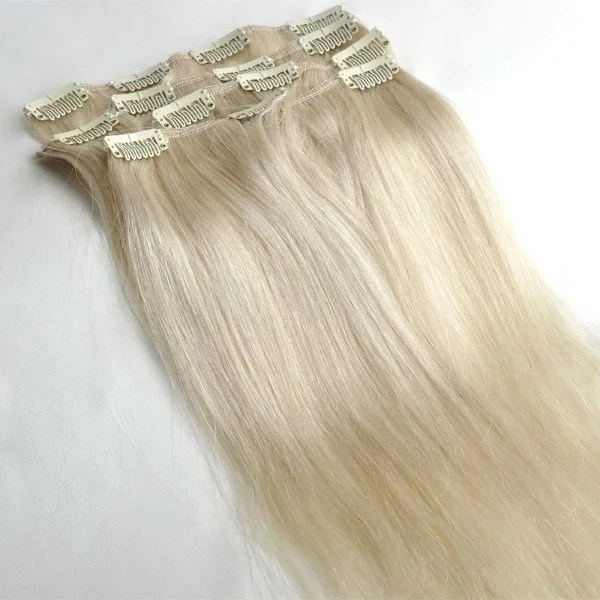 Mega Hair Cabelo Humano Tic-Tac Loiro Platinado Liso 60cm 120g Kit 7 peças  - Mega Hair Aplique Tic Tac Loja Beauty Shop