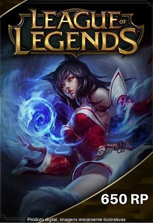Carto Presente League Of Legends 650 Riot Points LOL RP