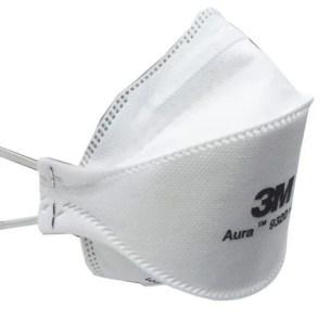 Máscara 3M Aura 9320 Pff2 - N95 CA 30592 Sem Válvula Com Elástico - Preveoeste EPIs, Descartáveis e Produtos de Limpeza