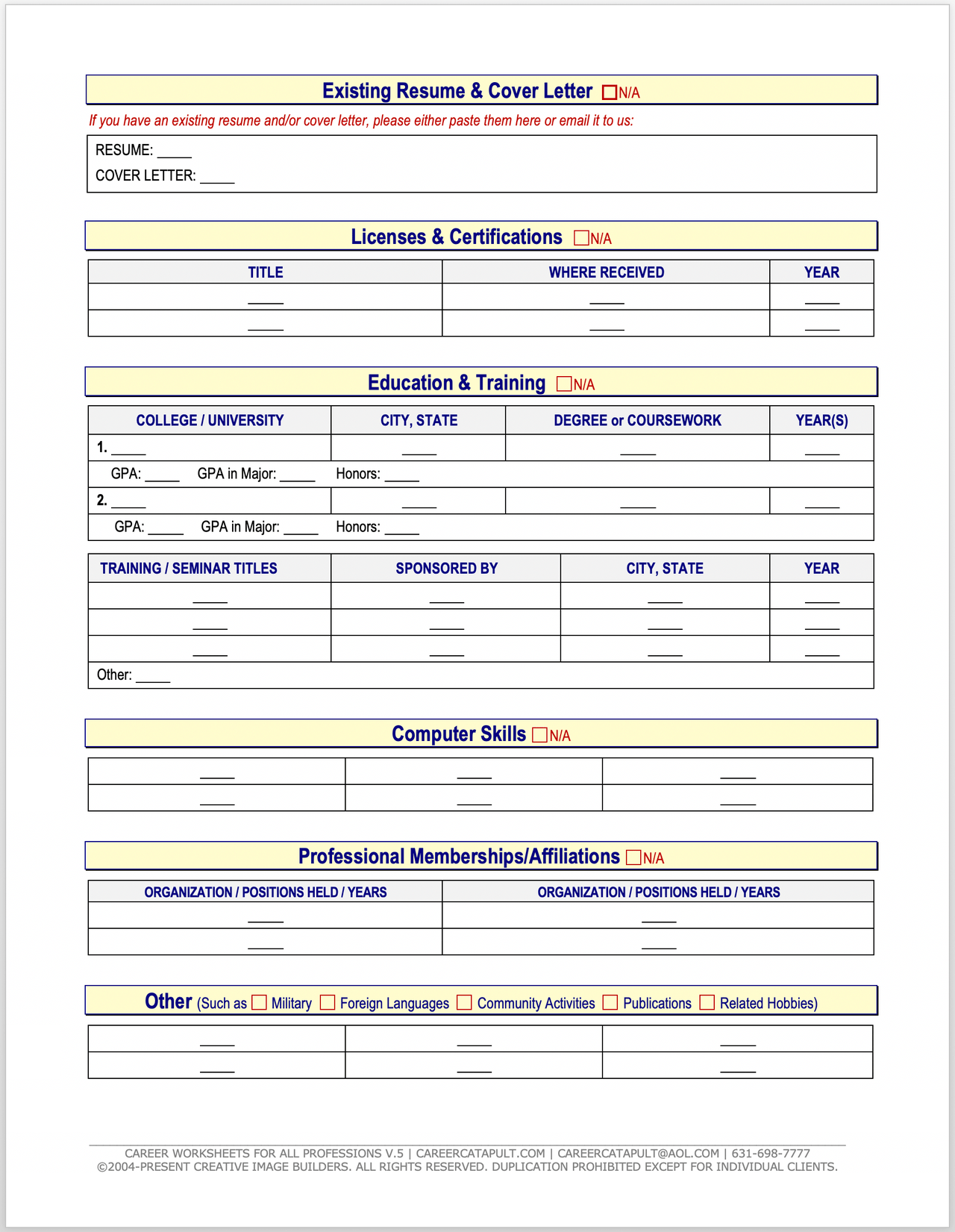 Resume Products