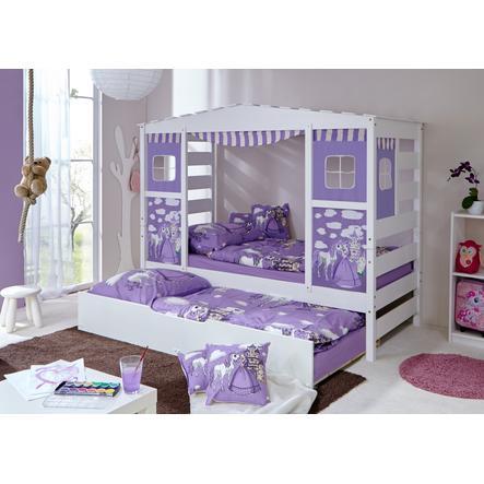 lit cabane gigogne enfant horse violet de