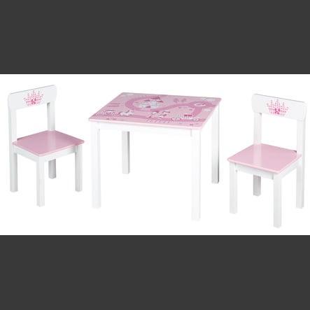ensemble table chaises enfant couronne 3