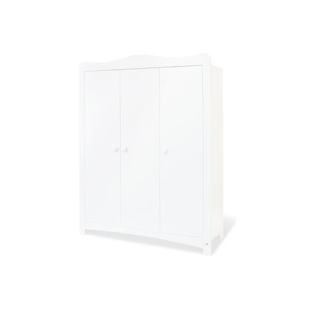 armoire enfant bebe 3 portes florentina blanc