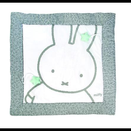tapis d eveil miffy 100x100 cm gris blanc