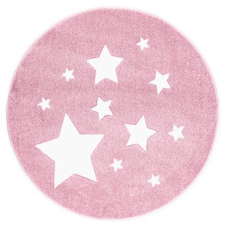 scandicliving tapis enfant etoiles rose ro