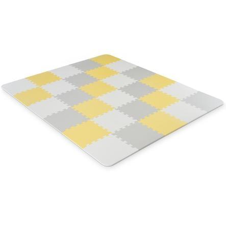 tapis puzzle enfant luno mousse jaune