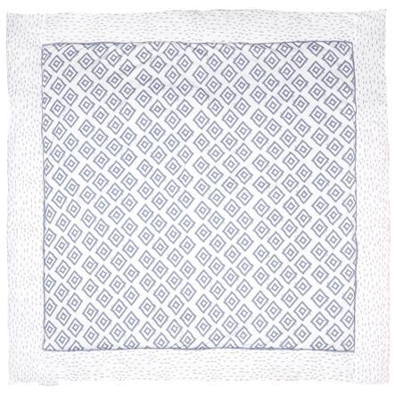 tapis d eveil losanges bleu 120x120 cm