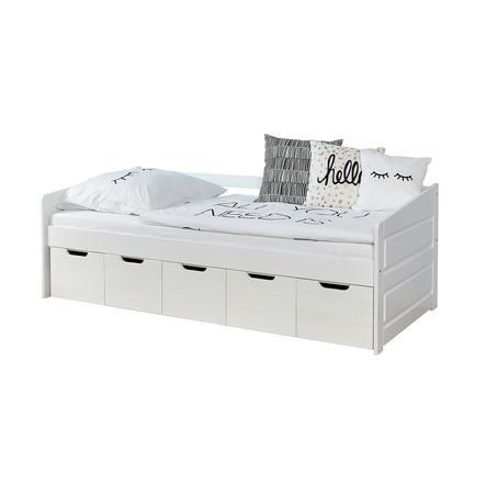 lit enfant avec tiroirs de rangement micki
