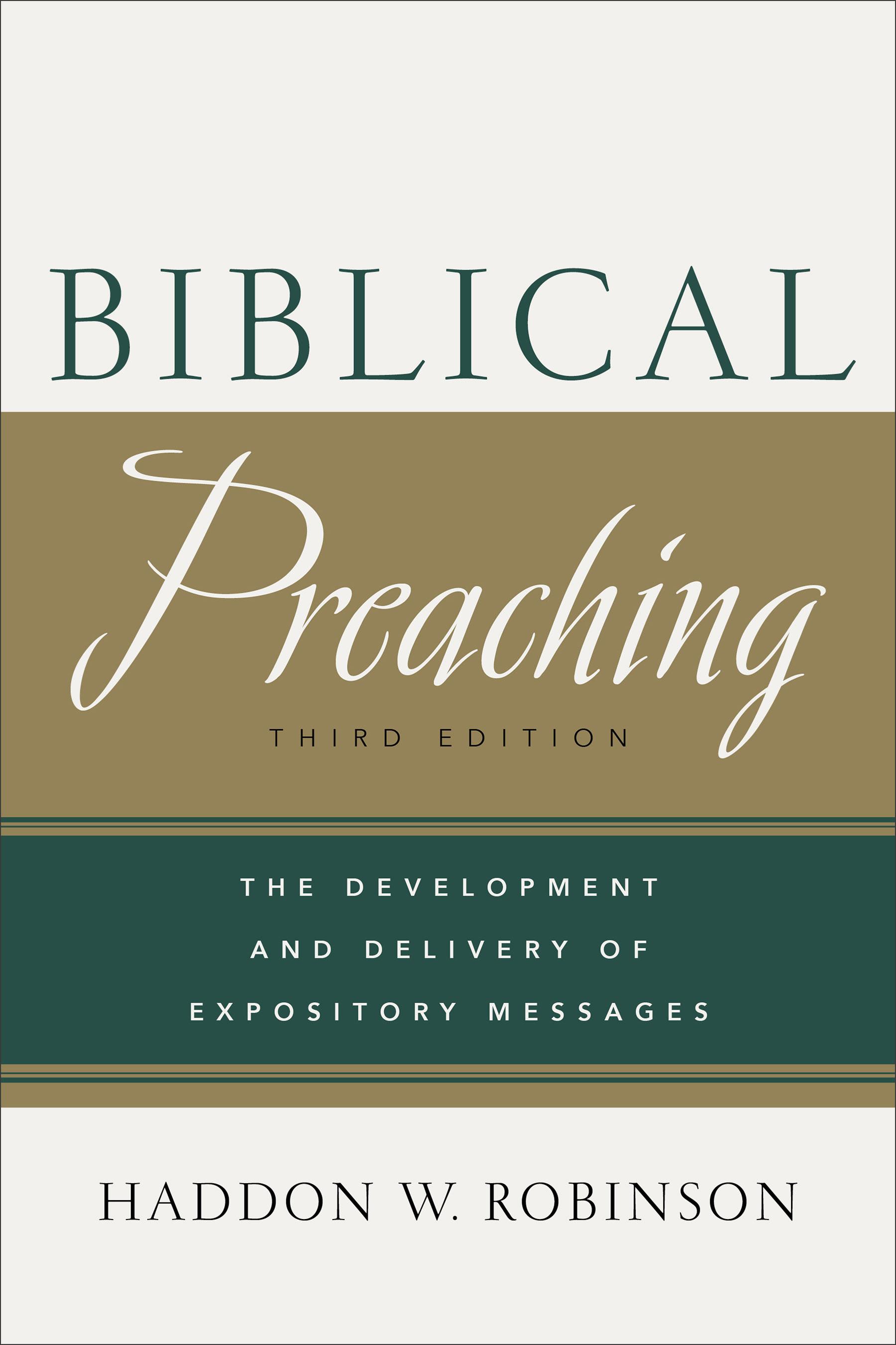 Image result for haddon robinson biblical preaching