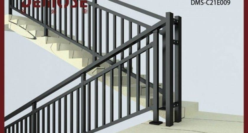 Simple Stair Railing Designs Barb Homes | Home Stair Railing Design | Grill | Living Room | Inside | Small House | Outside Staircase Grill
