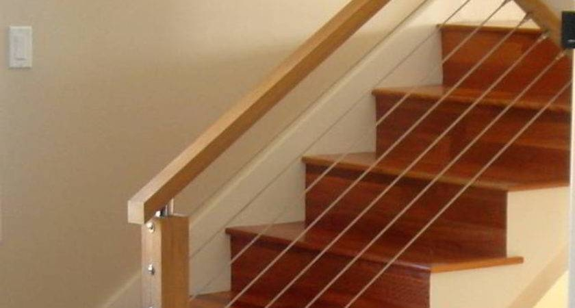 18 Simple Wire Stair Railings Ideas Photo Barb Homes | Modern Cable Stair Railing | Entry Foyer | Staircase Remodel | Stair Treads | Glass Railing | Deck Railing