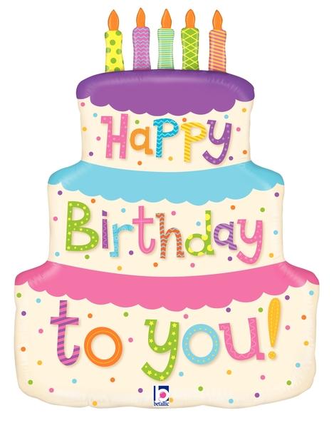 Happy Birthday Pink Cake Balloon Birthday Cake Helium Foil Party Balloon Home Garden Universitasfundacion Party Supplies