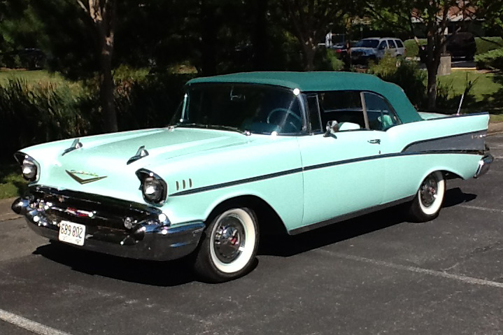 1957 chevrolet bel air convertible   180345     1957 CHEVROLET BEL AIR CONVERTIBLE   Front 3 4   180345
