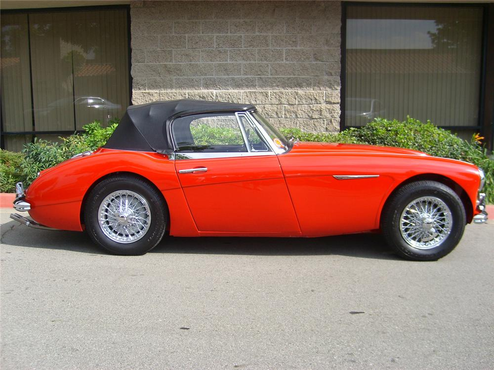 1963 austin healey 3000 mark ii bj7 sports convertible   70693 1963 AUSTIN HEALEY 3000 MARK II BJ7 SPORTS CONVERTIBLE   Side Profile    70693