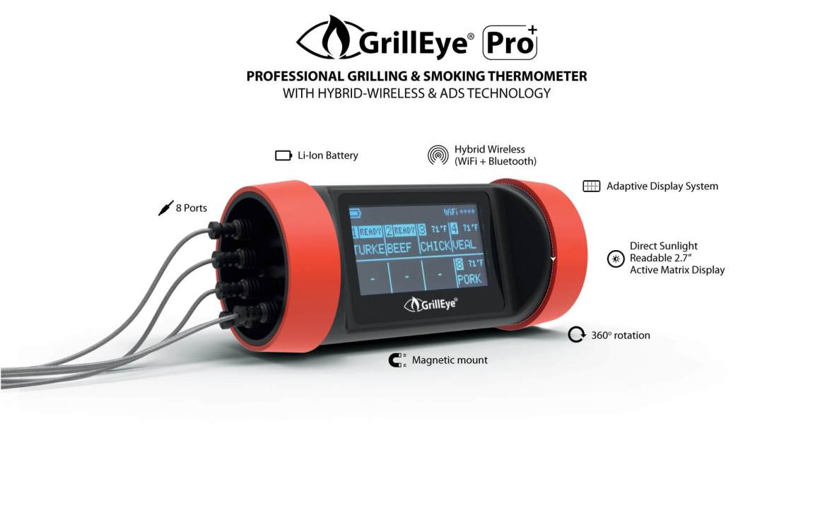 grilleye pro plus grillEye ProPlus Features US GrillEye Pro Plus & # 8211;  Test of WiFi & # 038;  Bluetooth grill thermometer
