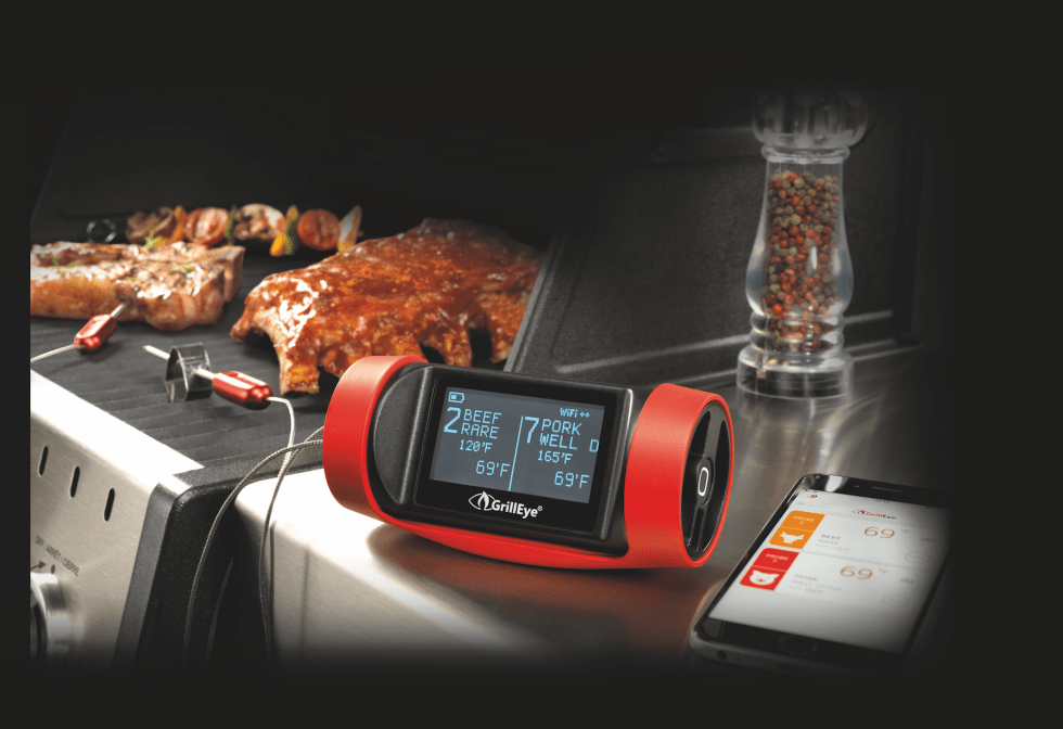 GrillEye Pro Plus grilleye pro plus grillEye PRO Plus F Pack GrillEye Pro Plus & # 8211;  Test of WiFi & # 038;  Bluetooth grill thermometer