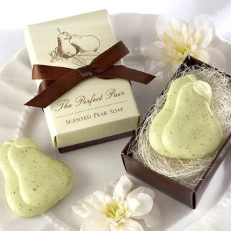 The  Perfect Pair  Pear Soap Favor The  Perfect Pair  Soap Favor