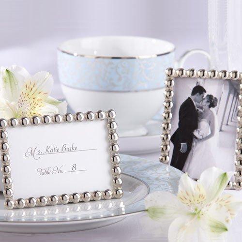 Silver Beads Mini Photo Frame