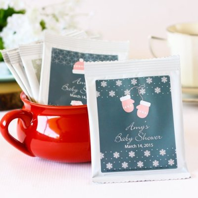 Winter baby shower Hot Cocoa Favors