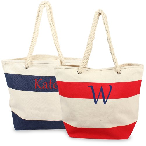 Personalized Bag With Rope Handles Personalized Nautical