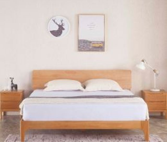 Nara American Oak Wood Bed Frame