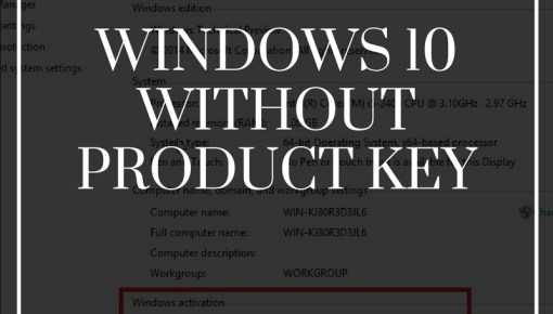 how to activate windows 10 for free without product key