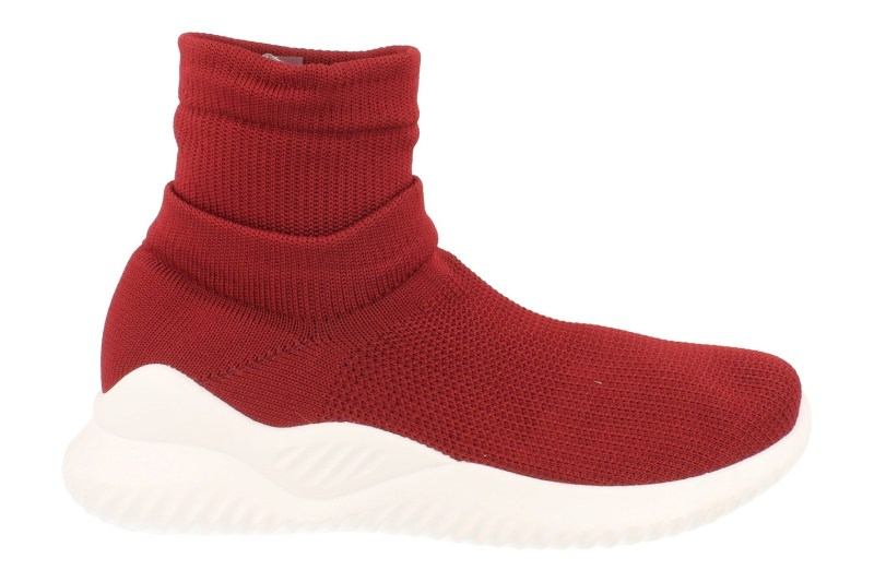 Mode-Mania Sneaker Hoog Dames Sneakersock - Bordeaux