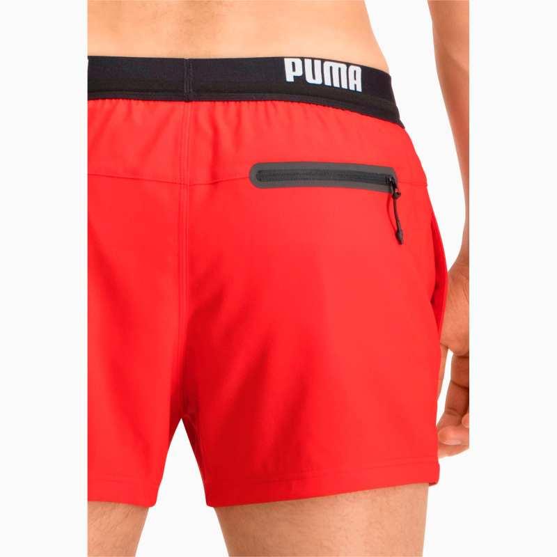 Puma Zwembroek Logo Kort Zwemshort - Rood