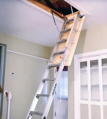 5 Best Attic Ladders Reviews Of 2019 Bestadvisor Com   Folding Attic Stairs With Handrail   Attic Remodel   Attic Renovation   Ceiling   Stira   Rainbow F2260
